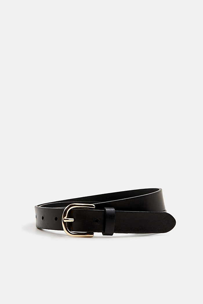 Leather belt, BLACK, overview