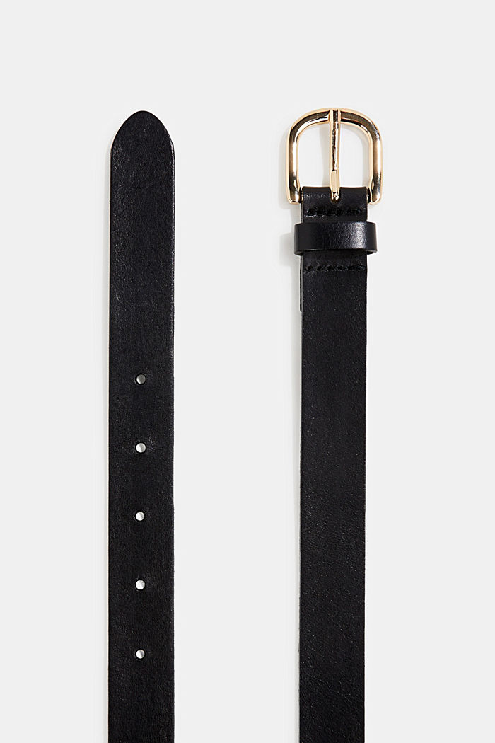 Leather belt, BLACK, detail image number 1