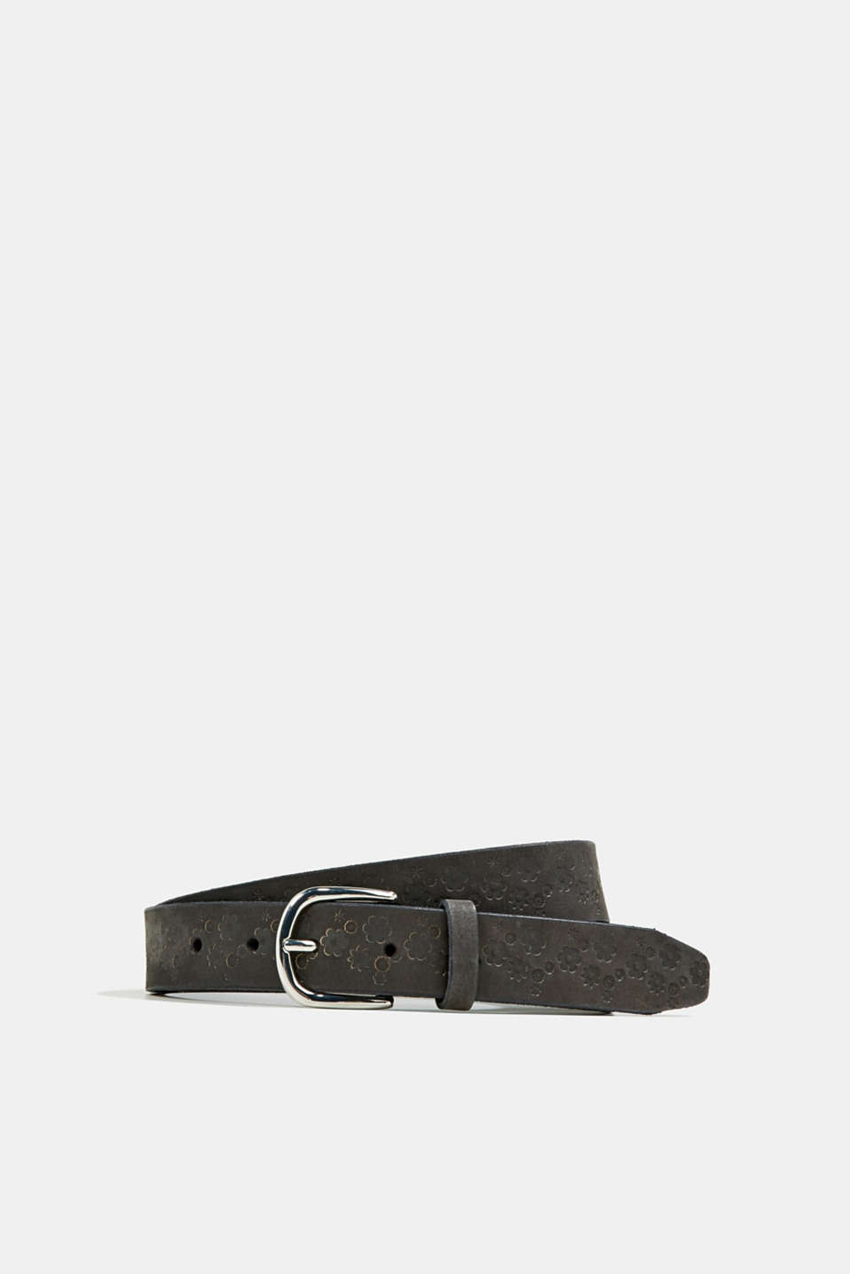 Esprit - Made of leather: Embossed belt