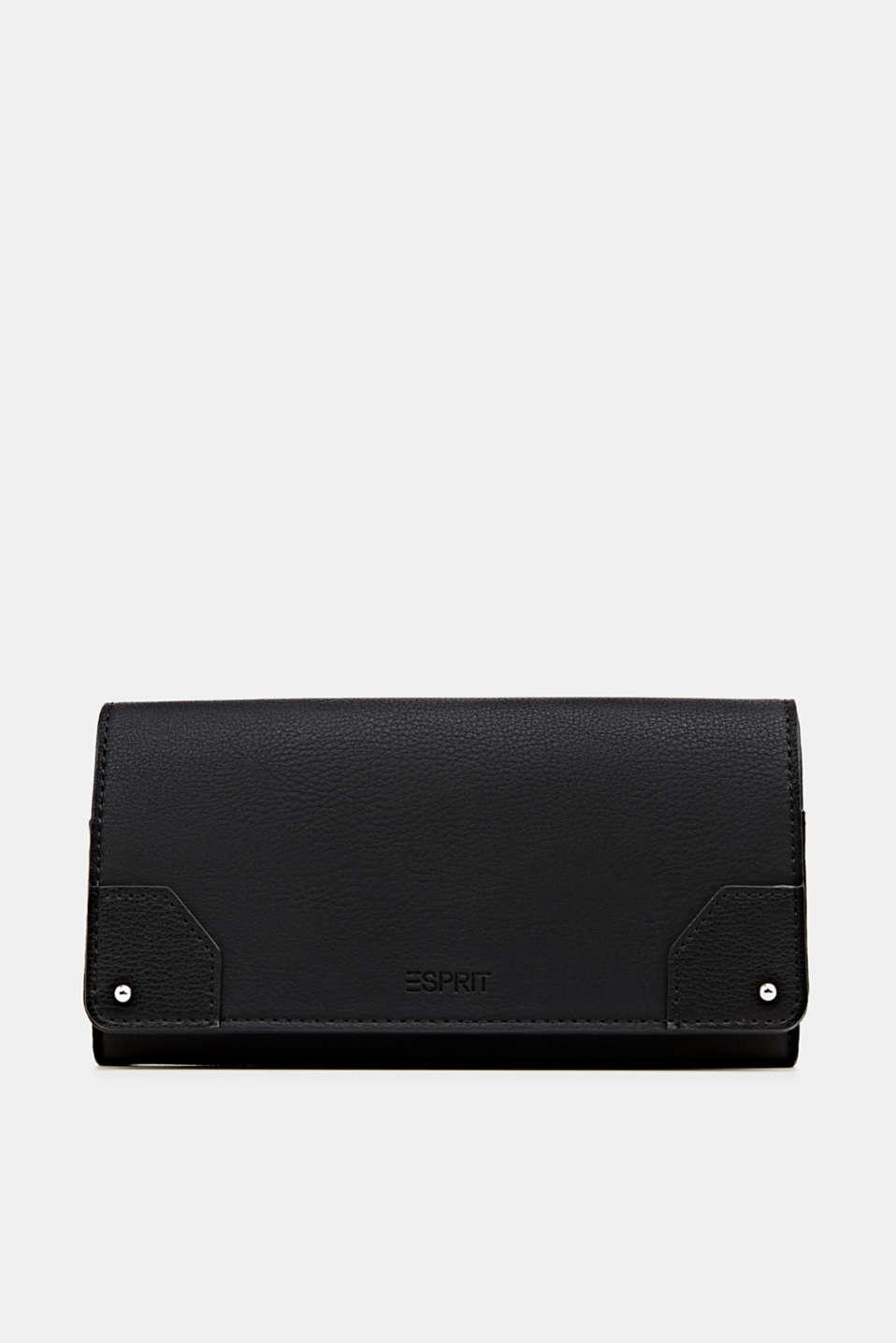 Faux leather purse, BLACK, detail image number 0