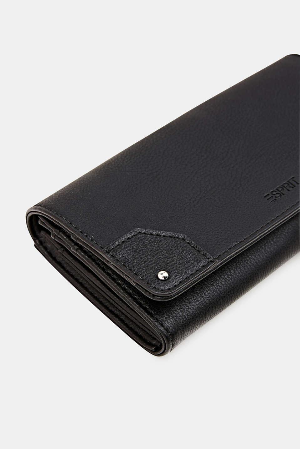 Faux leather purse, BLACK, detail image number 3
