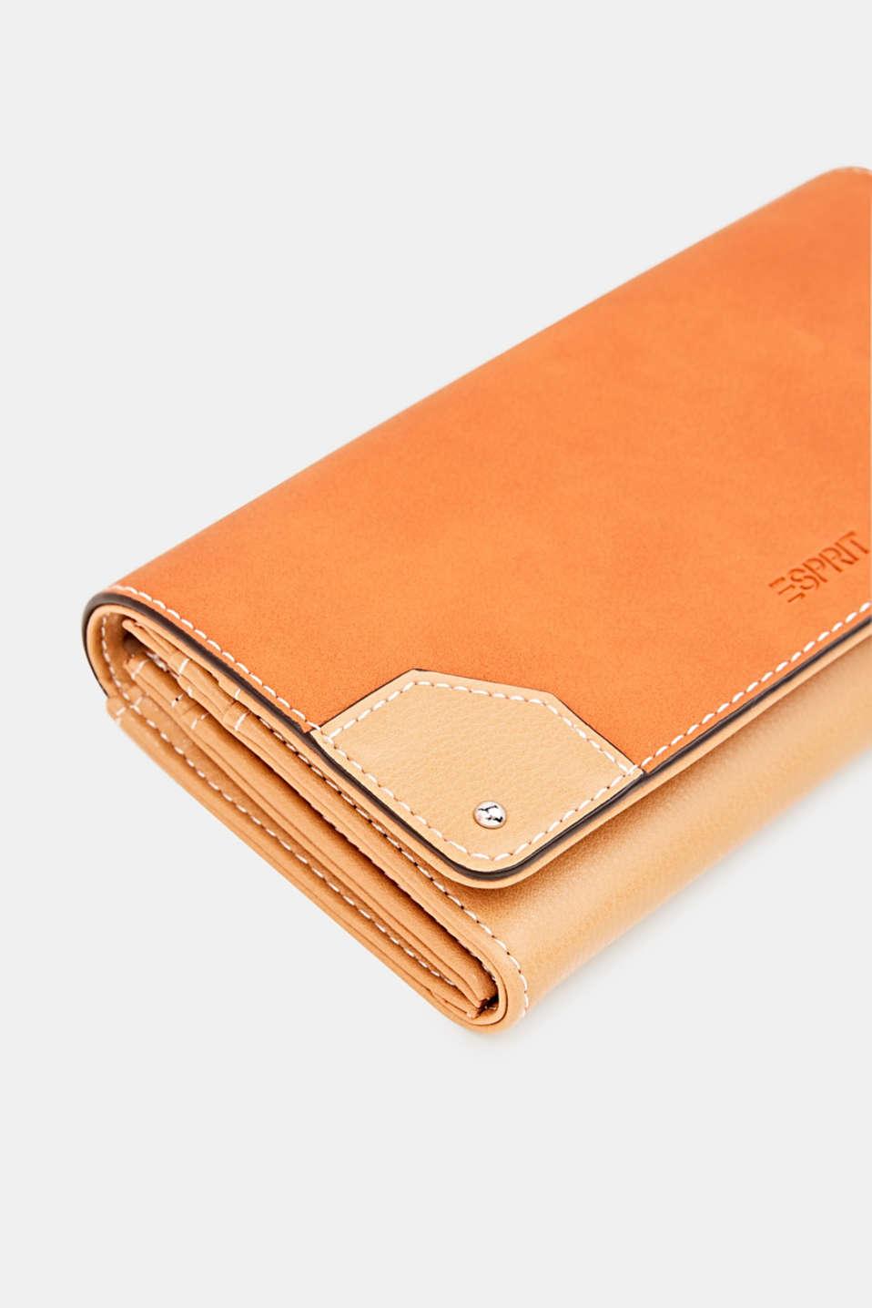 Faux leather purse, BURNT ORANGE, detail image number 3