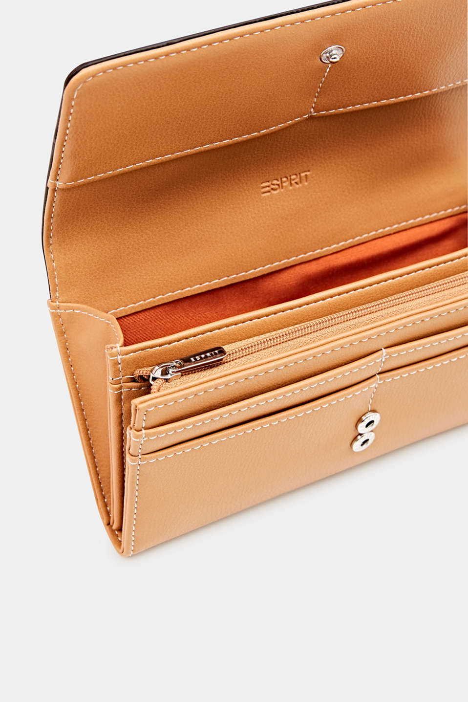 Faux leather purse, BURNT ORANGE, detail image number 2