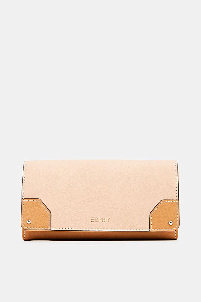 Imitatieleren portemonnee, PEACH, detail image number 0