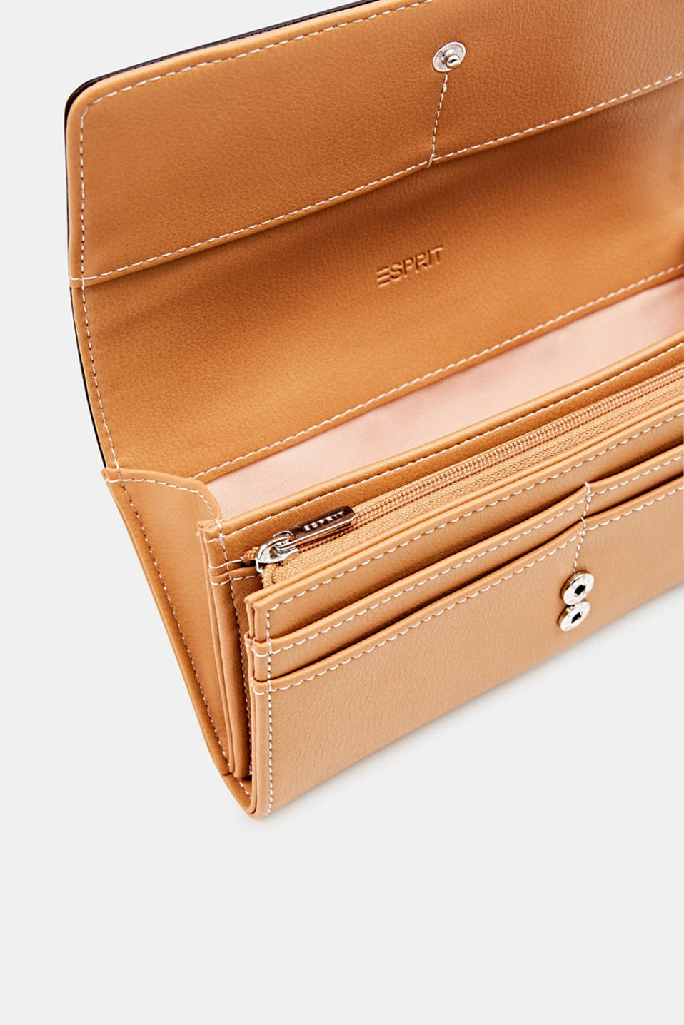 Faux leather purse, PEACH, detail image number 2