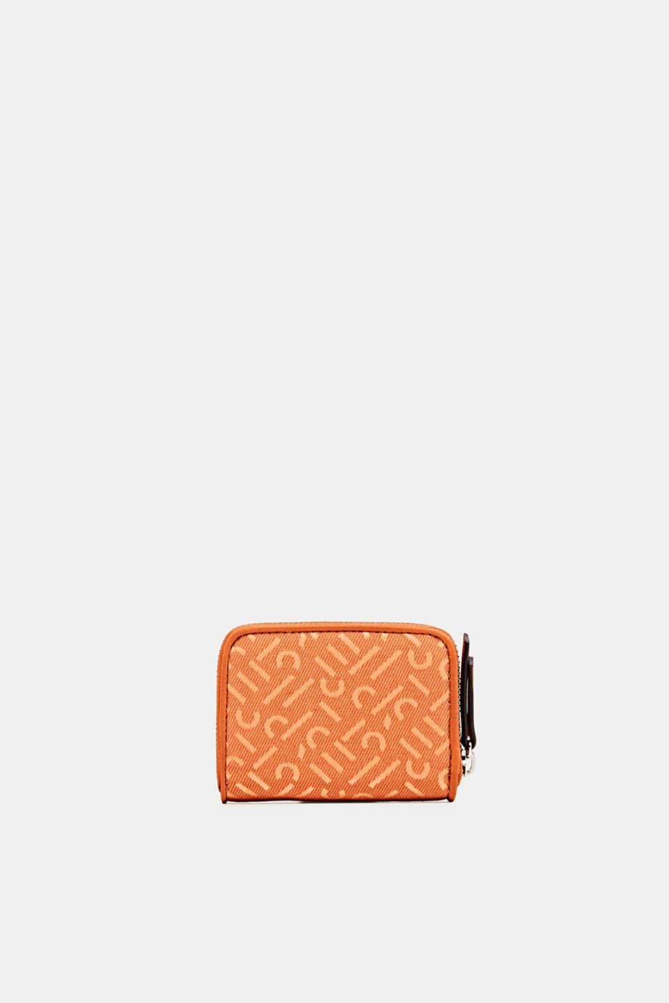Material mix mini wallet, BURNT ORANGE, detail image number 2