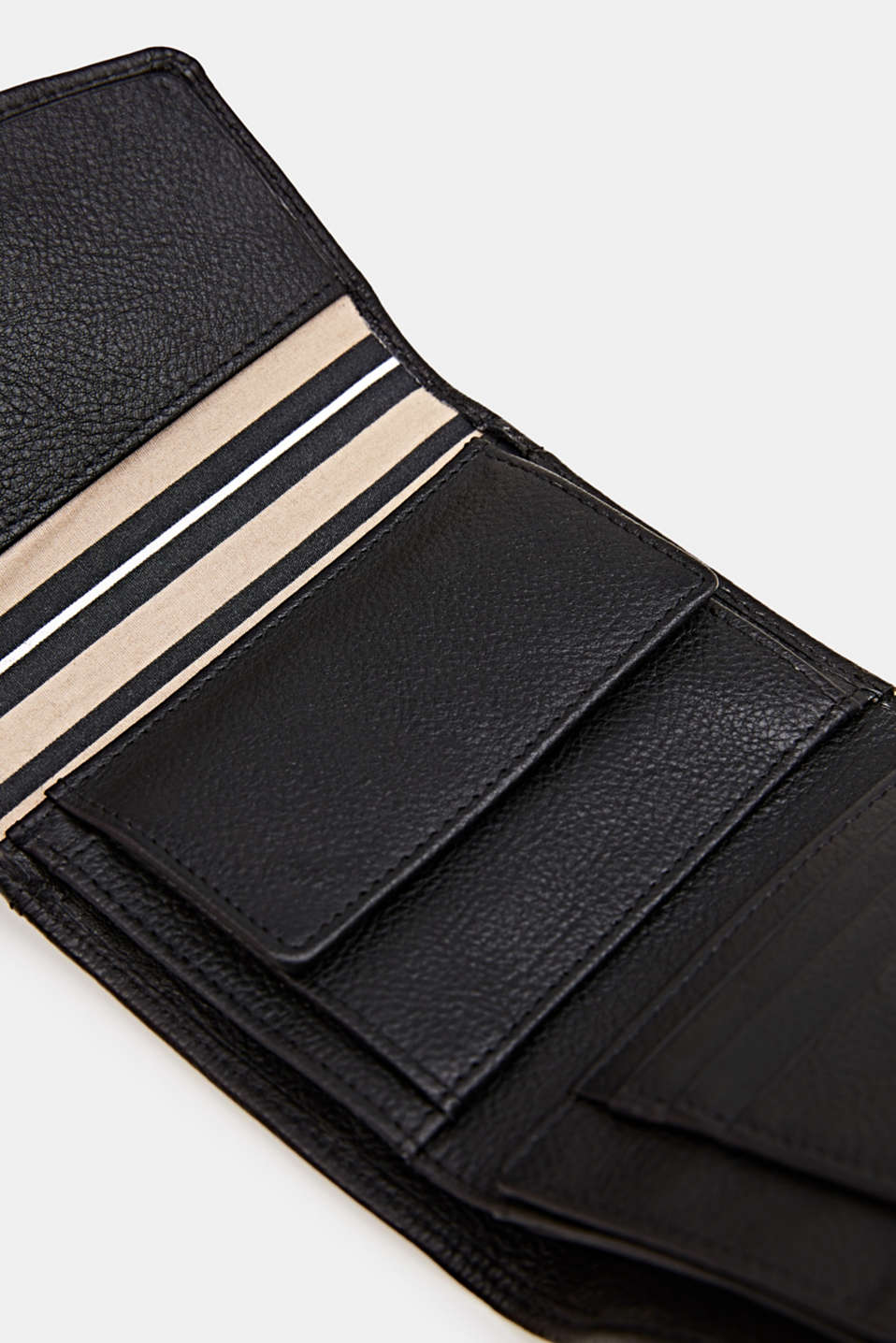 Leather purse, BLACK, detail image number 1
