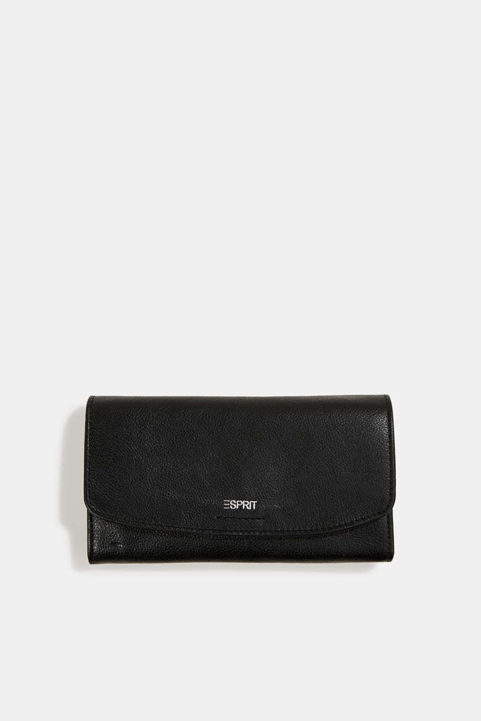 Leather purse, BLACK, detail image number 0