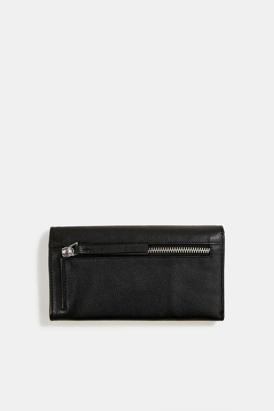 Leather purse, BLACK, detail image number 2