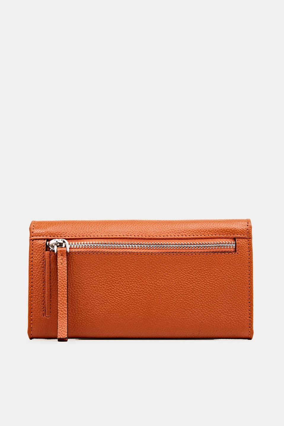Leather purse, BURNT ORANGE, detail image number 2