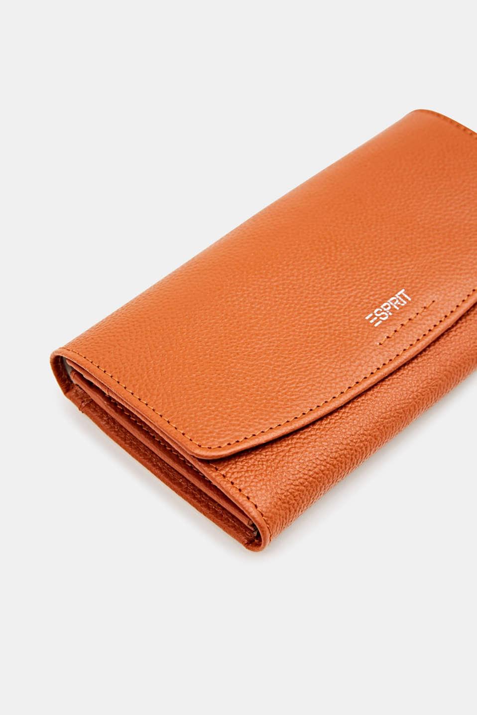 Leather purse, BURNT ORANGE, detail image number 1
