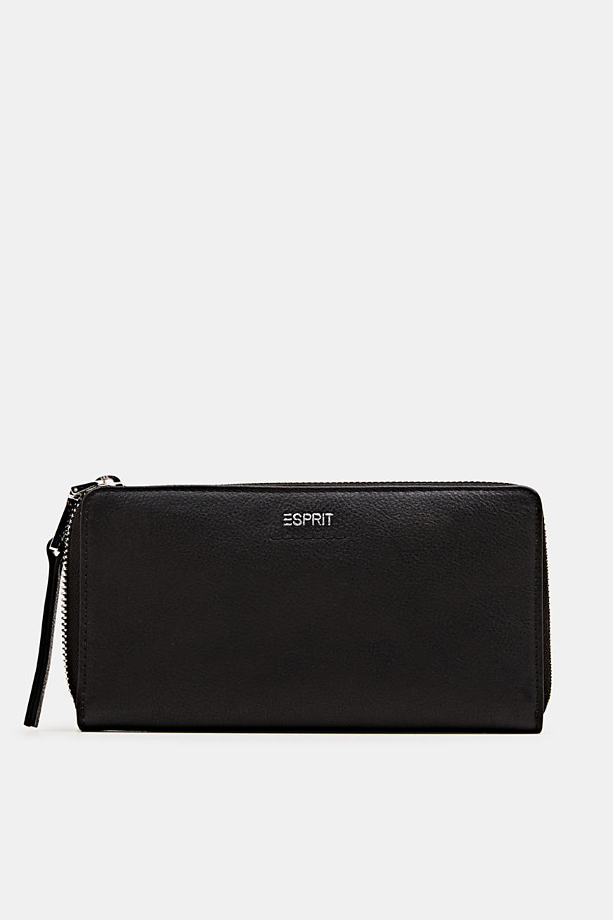 Waiter-style purse, in leather
