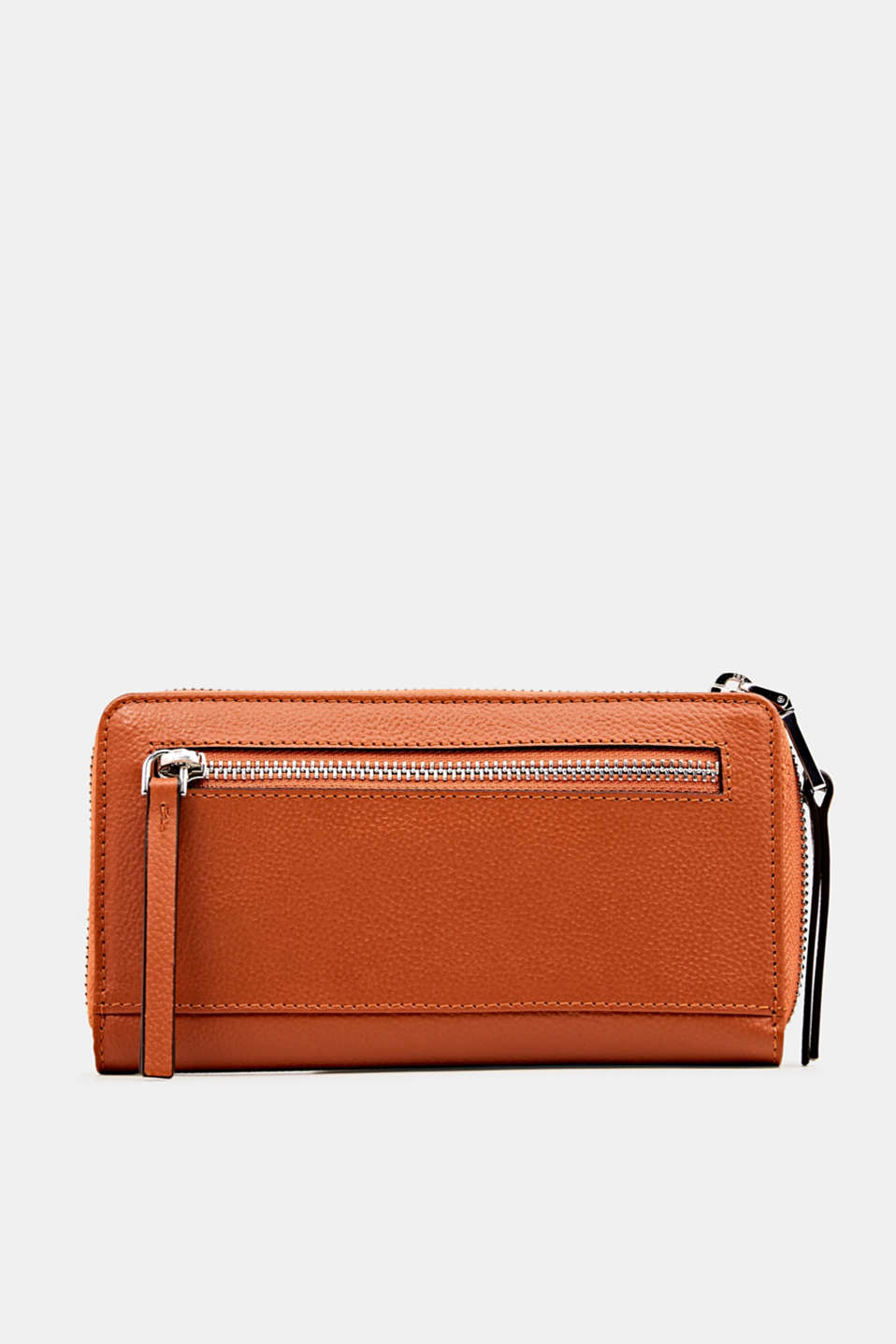 Waiter-style purse, in leather, BURNT ORANGE, detail image number 2
