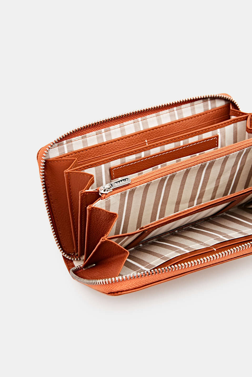 Waiter-style purse, in leather, BURNT ORANGE, detail image number 1