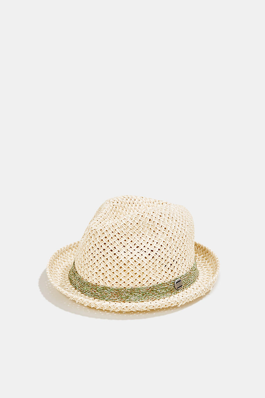 Trilby hat with two-tone braiding