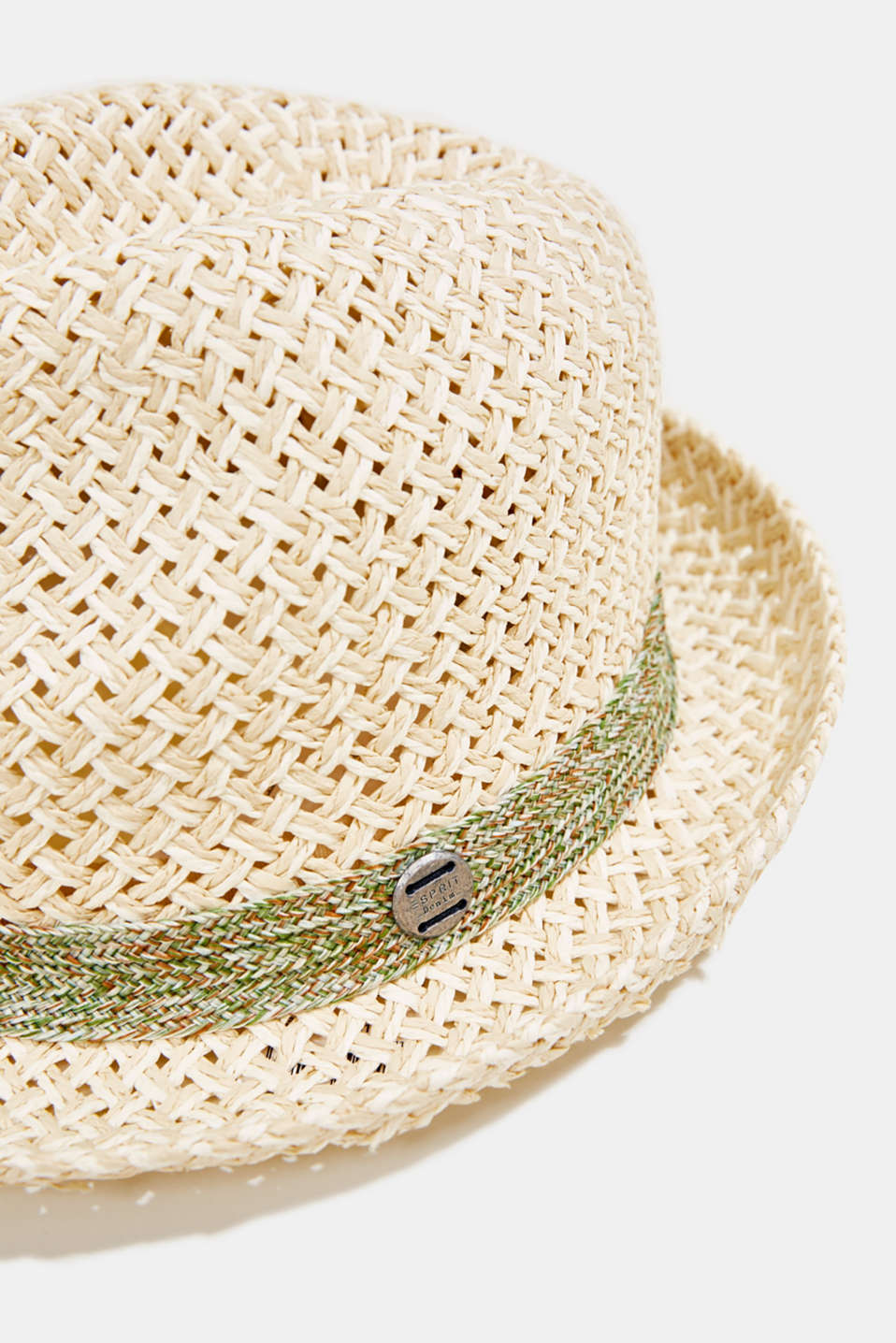 Trilby hat with two-tone braiding, OFF WHITE, detail image number 1