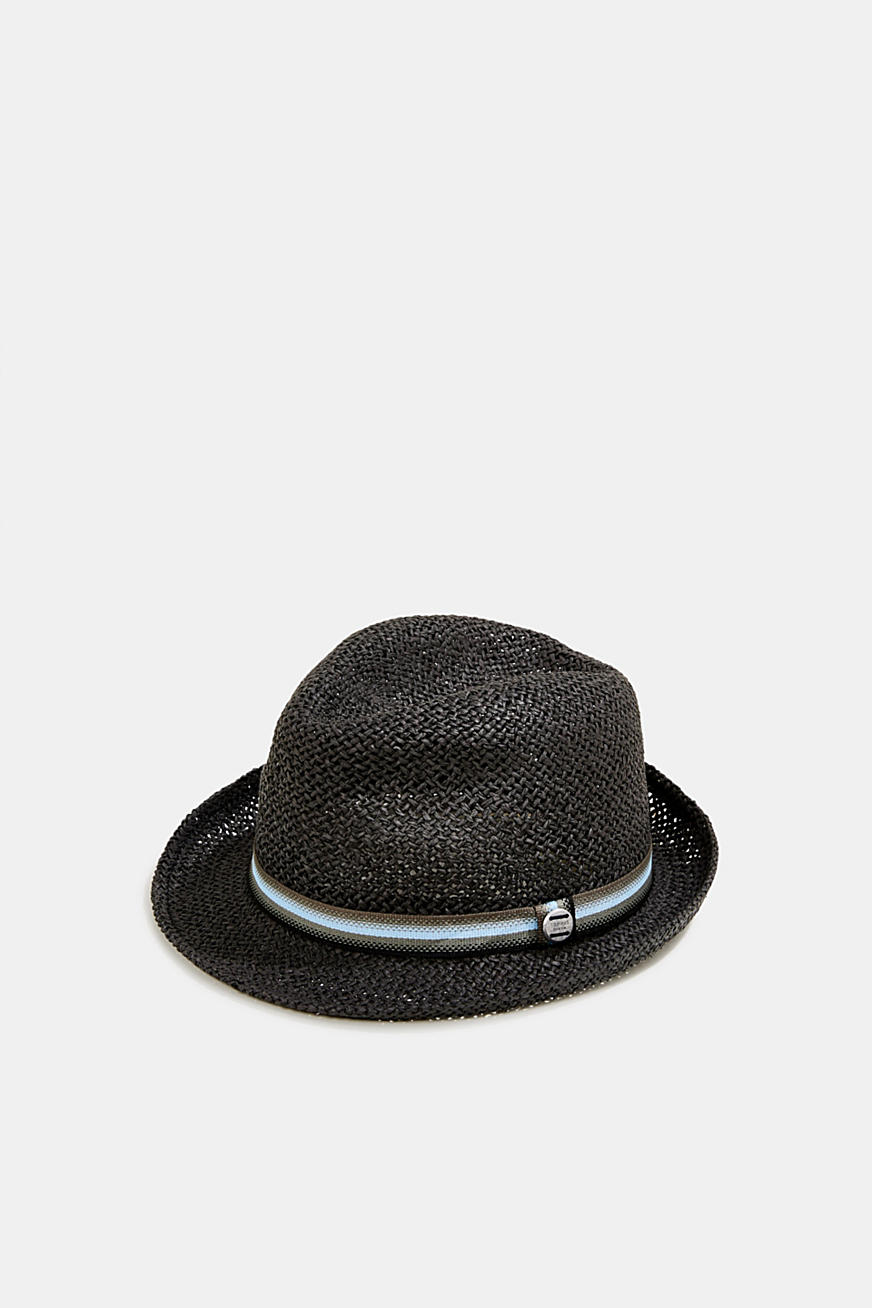 Trilby hat with a striped band
