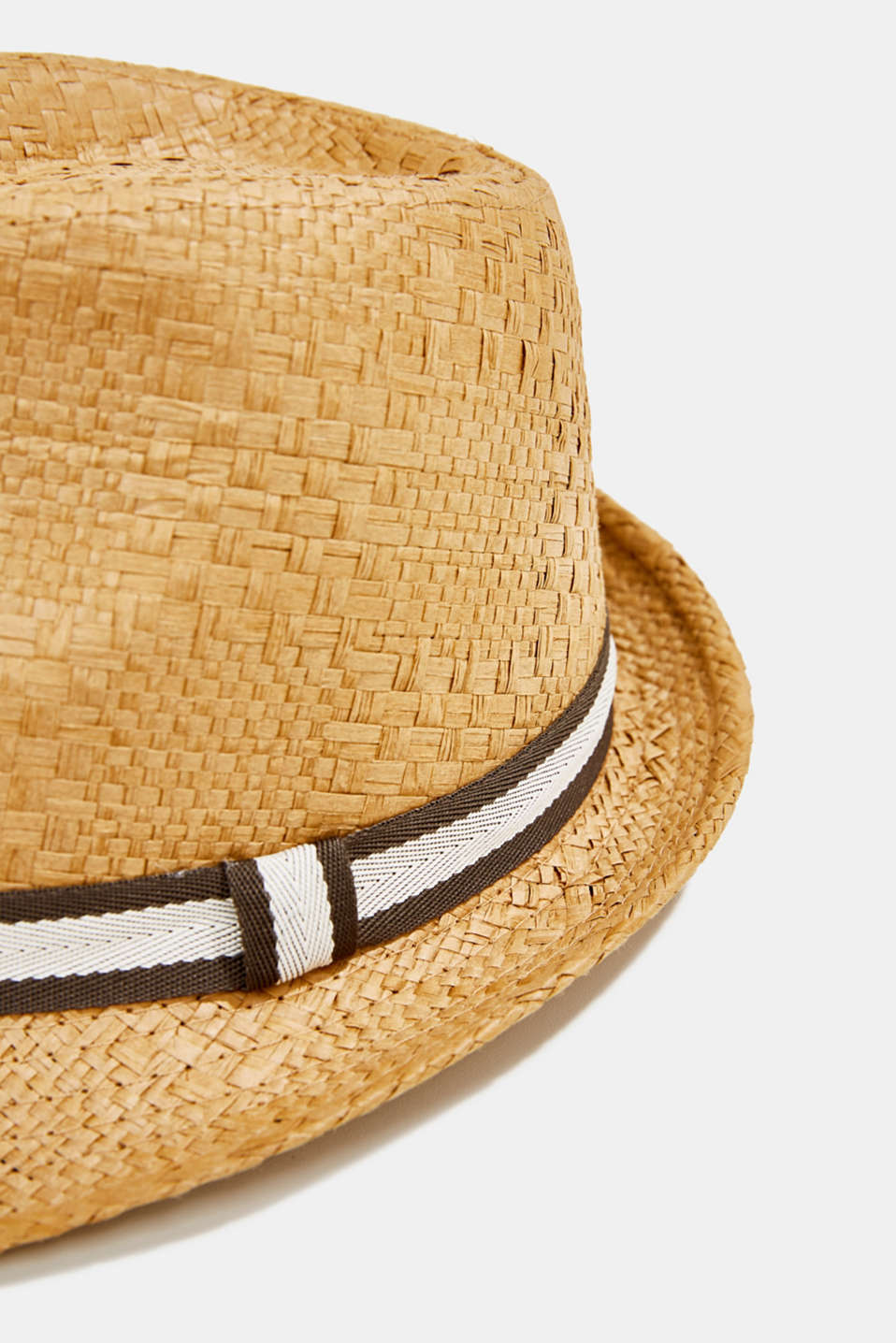 Trilby hat with a striped band, CAMEL, detail image number 1