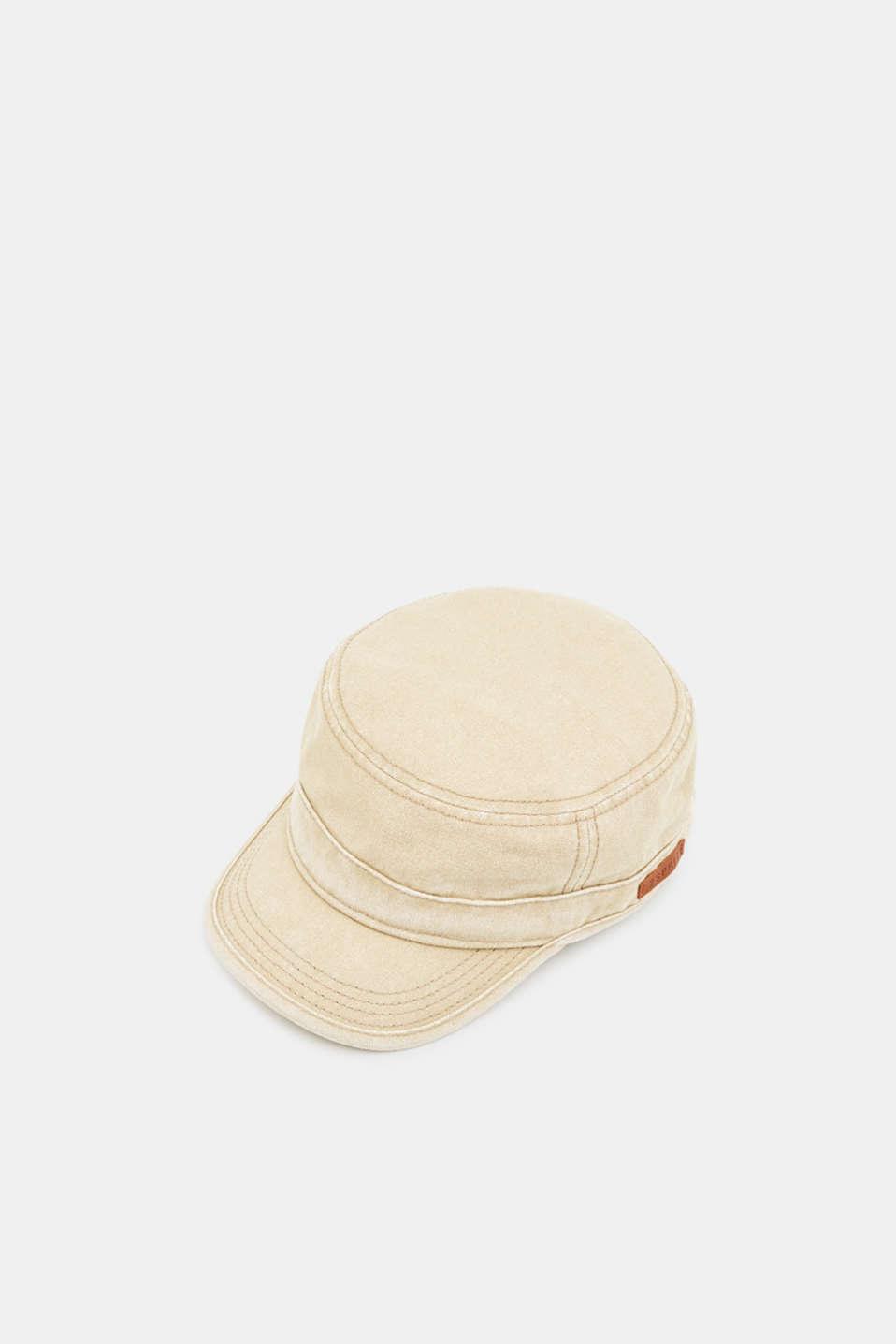 100% cotton cap, BEIGE, detail image number 0