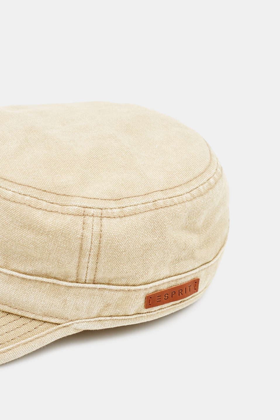100% cotton cap, BEIGE, detail image number 1