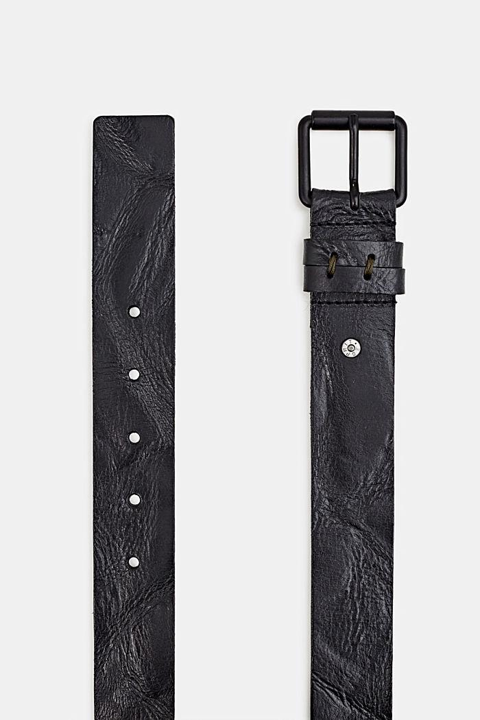 Riem van buffelleer, BLACK, detail image number 1