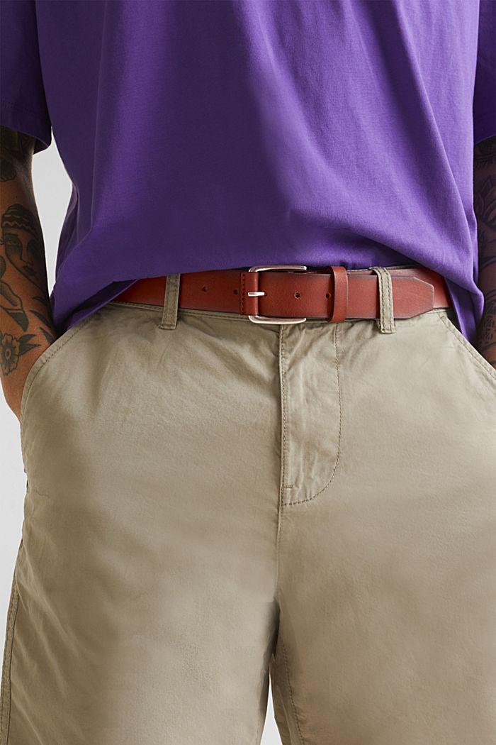 Gürtel aus Leder, RUST BROWN, detail image number 2