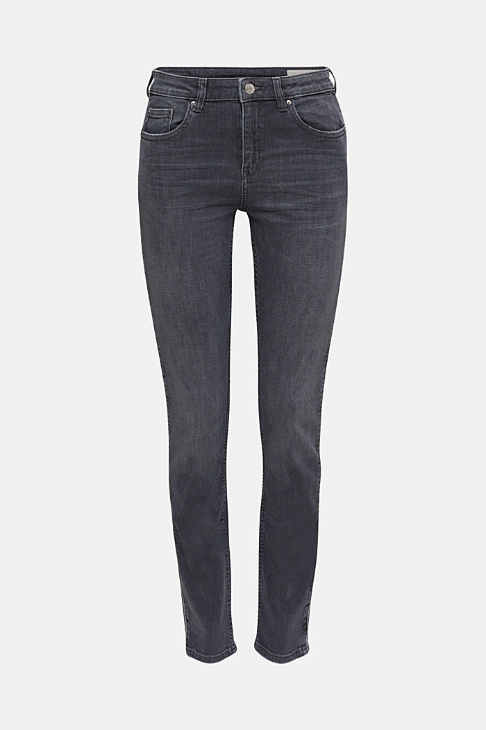 Grey jeans with piping, GREY MEDIUM WASHED, detail image number 0