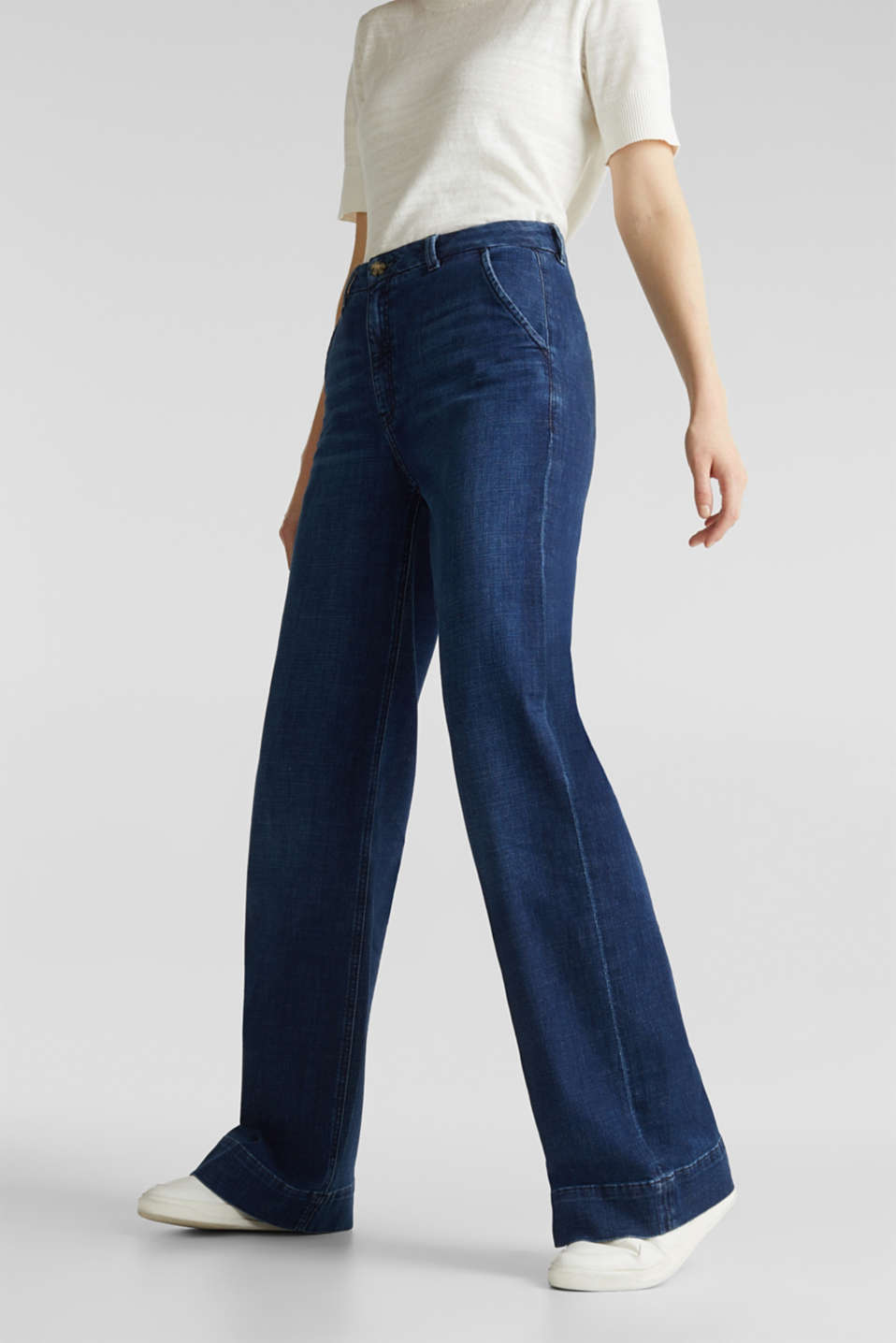 Esprit - Fashion jeans made of soft denim