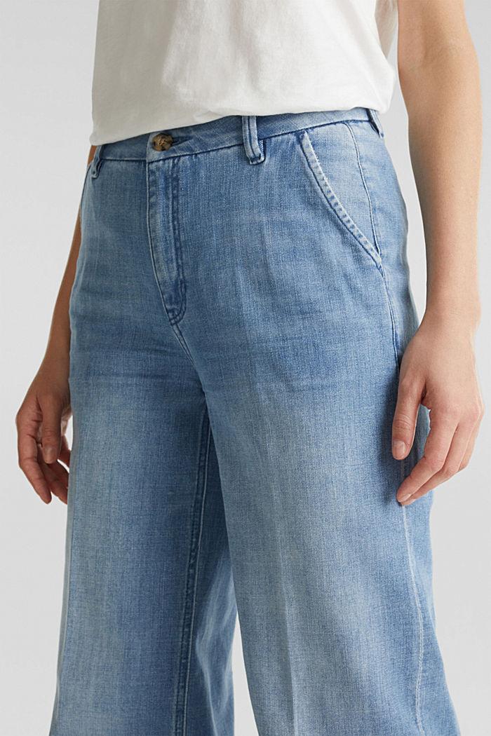 Fashion-Jeans aus weichem Denim, BLUE LIGHT WASHED, detail image number 2