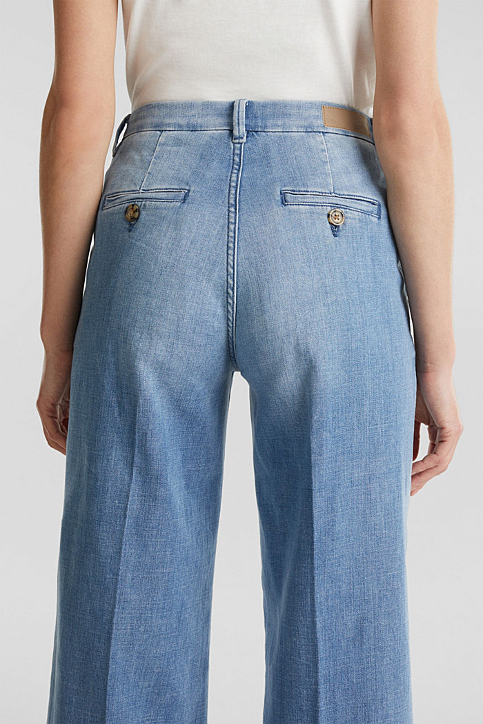 Fashion-Jeans aus weichem Denim, BLUE LIGHT WASHED, detail image number 5