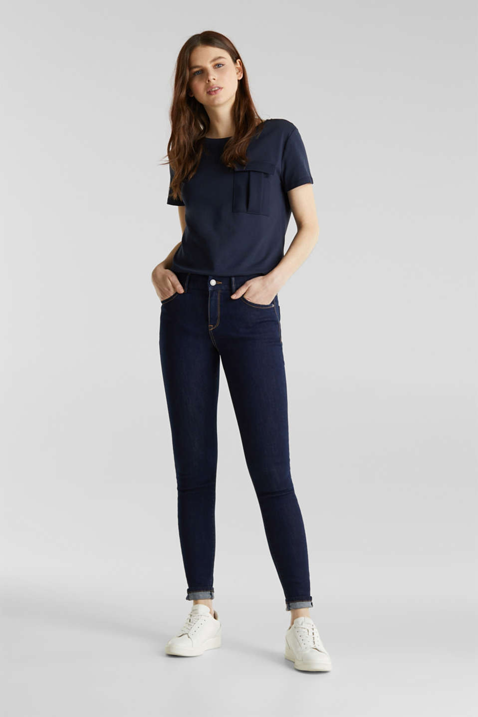 Esprit - Cleane Jeans mit Organic Cotton