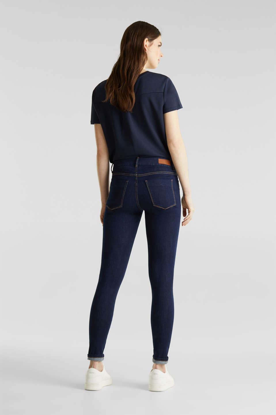 Clean jeans with organic cotton, BLUE RINSE, detail image number 3