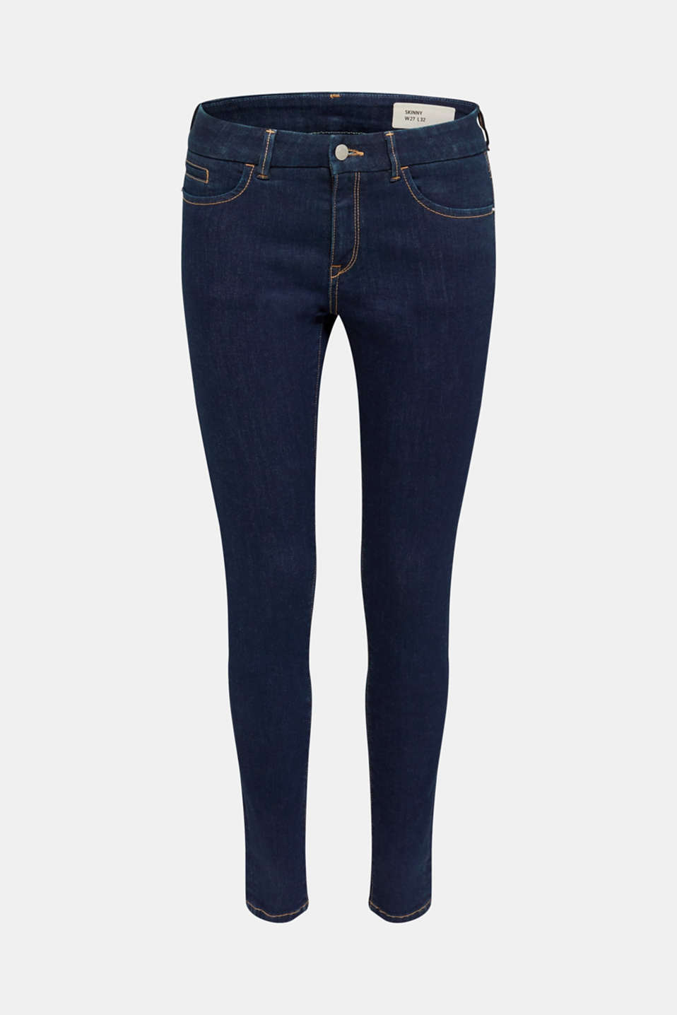 Clean jeans with organic cotton, BLUE RINSE, detail image number 8