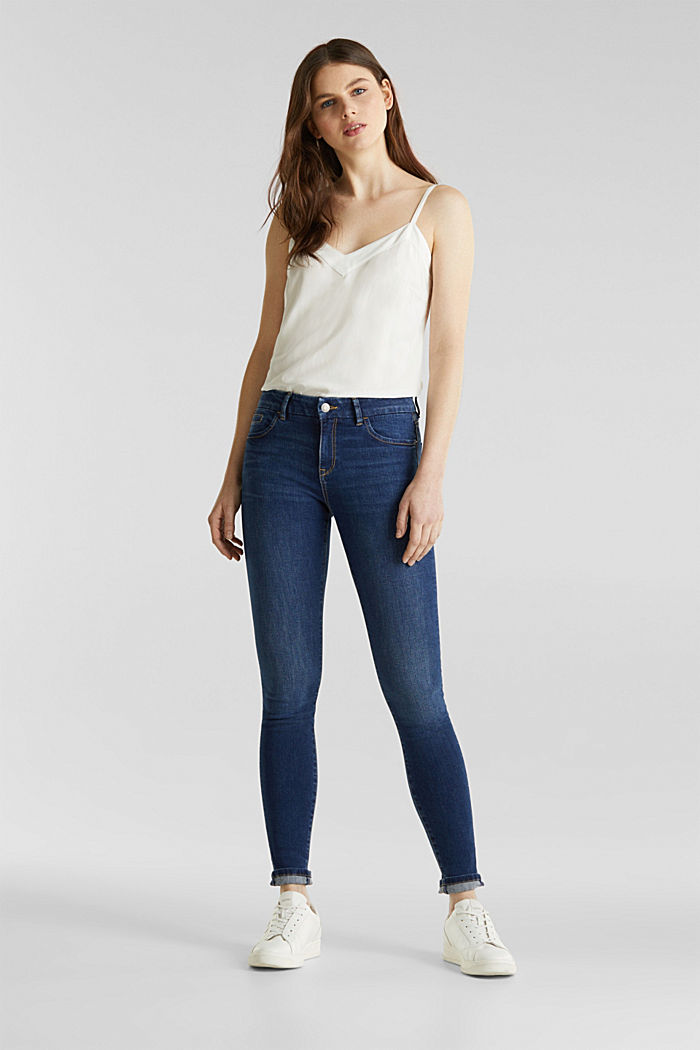 Clean jeans with organic cotton, BLUE MEDIUM WASHED, detail image number 0