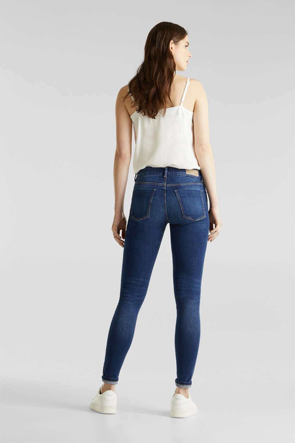 Clean jeans with organic cotton, BLUE MEDIUM WASH, detail image number 3