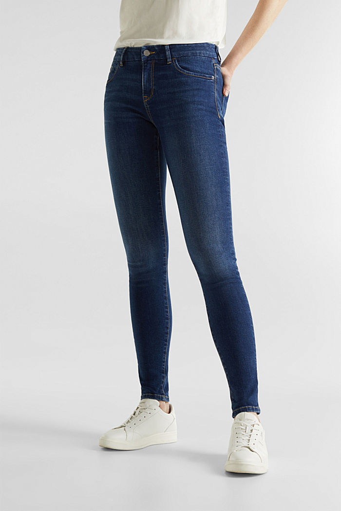 Clean jeans with organic cotton, BLUE MEDIUM WASHED, detail image number 6