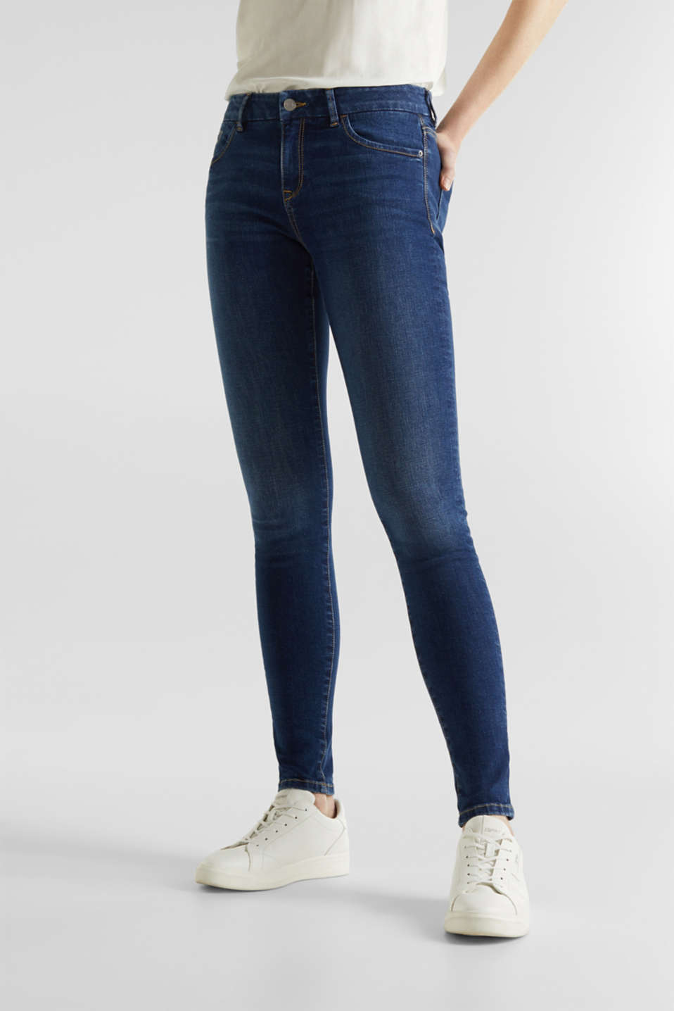 Clean jeans with organic cotton, BLUE MEDIUM WASH, detail image number 6