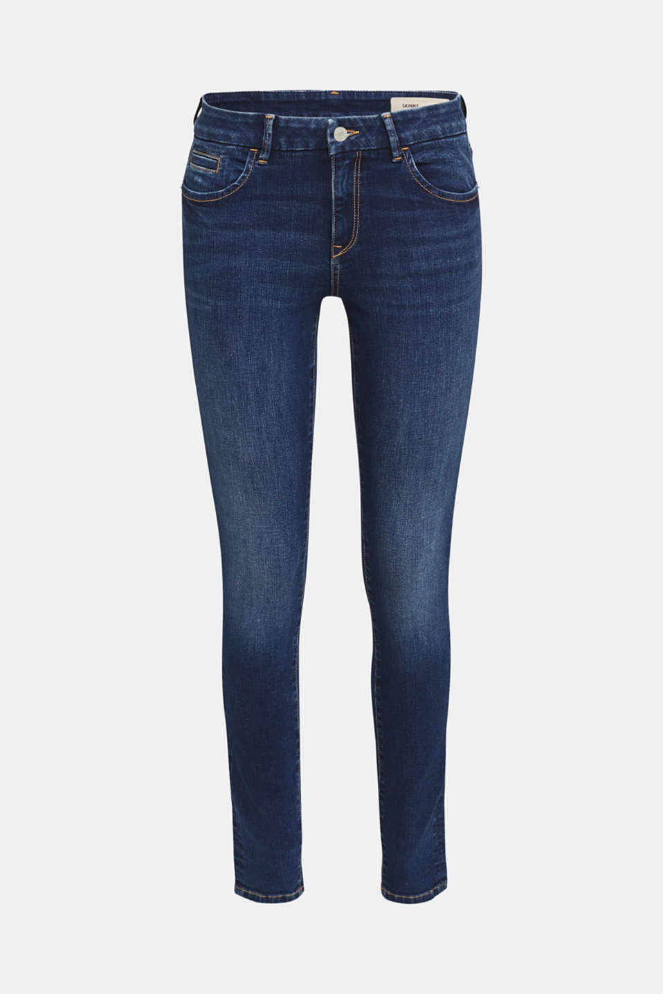 Clean jeans with organic cotton, BLUE MEDIUM WASH, detail image number 7
