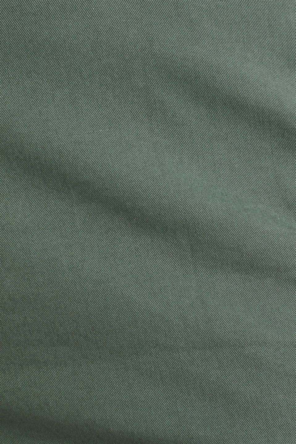 Summer chinos with belt and stretch, KHAKI GREEN, detail image number 4
