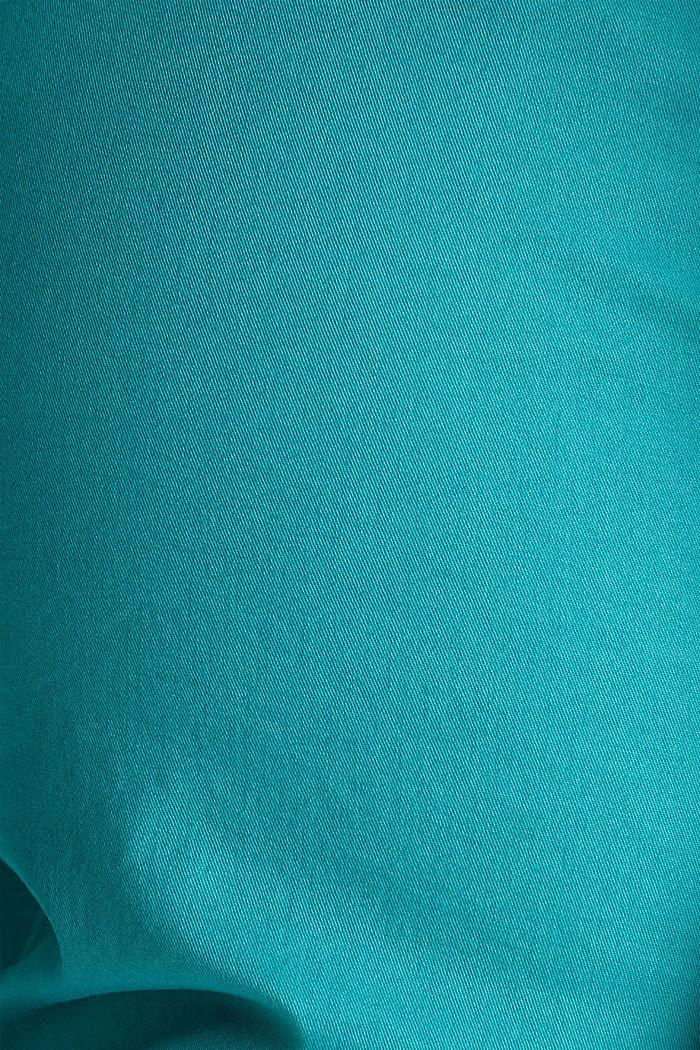 Summer-Chino mit Gürtel und Stretch, TEAL GREEN, detail image number 4