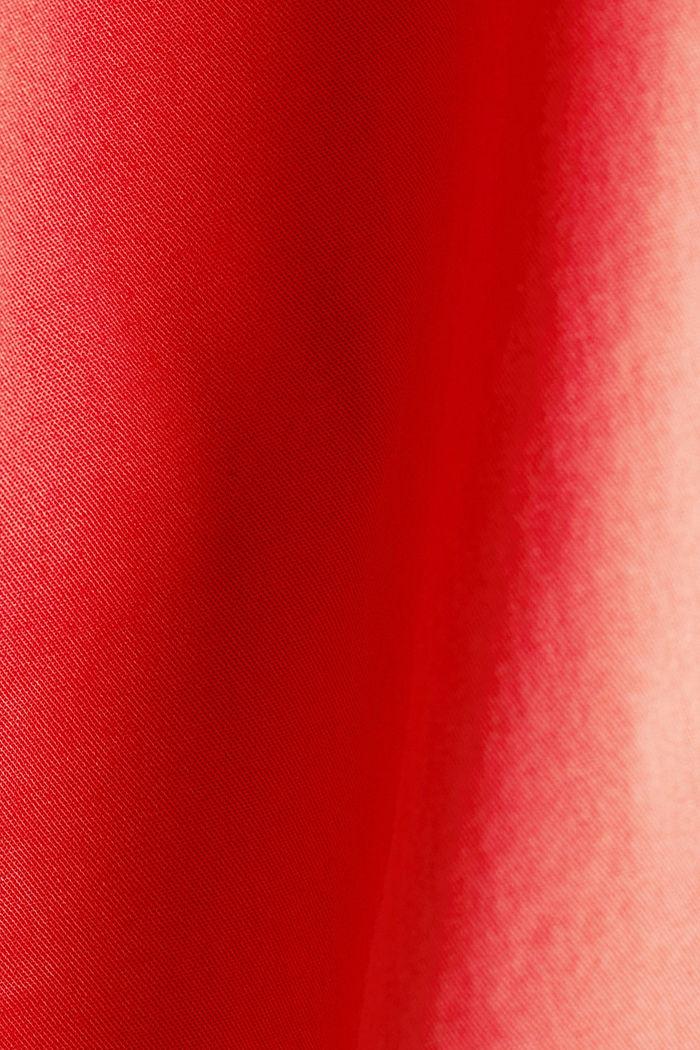 Pantalón chino veraniego con cinturón y componente elástico, CORAL, detail image number 4