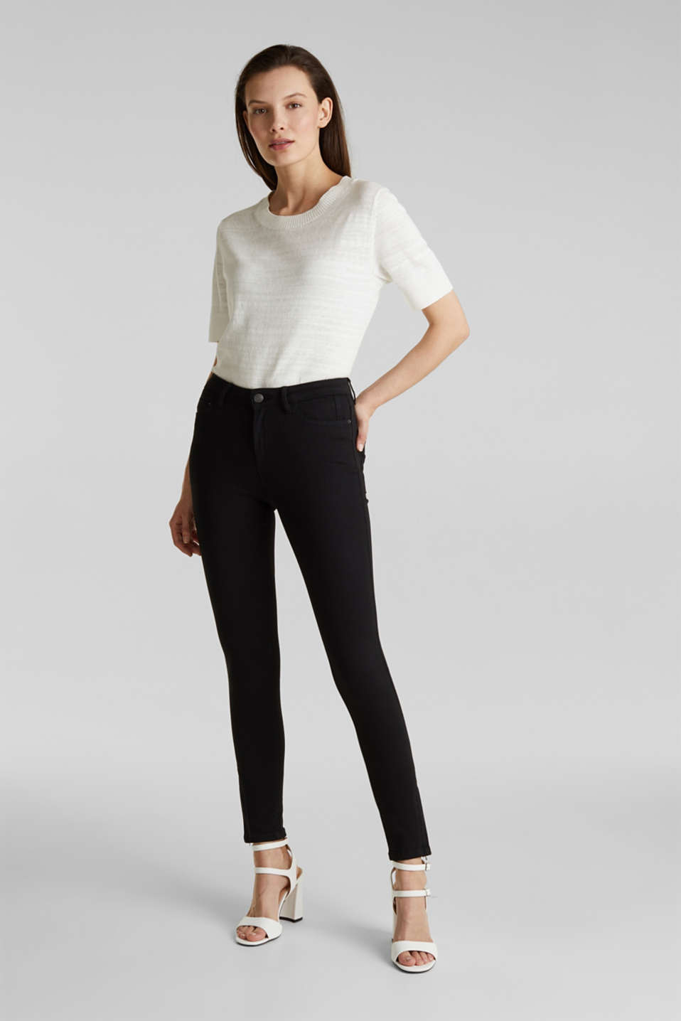 Ankle-length trousers with hem zips, BLACK, detail image number 0