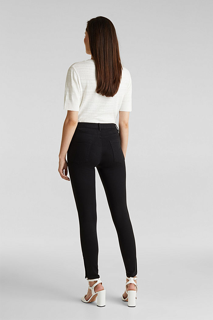 Ankle-length trousers with hem zips, BLACK, detail image number 3