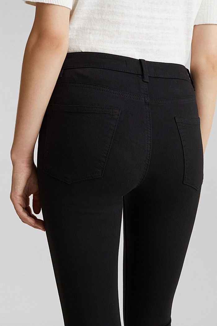 Ankle-length trousers with hem zips, BLACK, detail image number 2