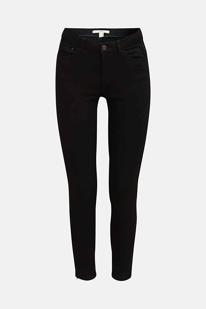Ankle-length trousers with hem zips, BLACK, detail image number 6