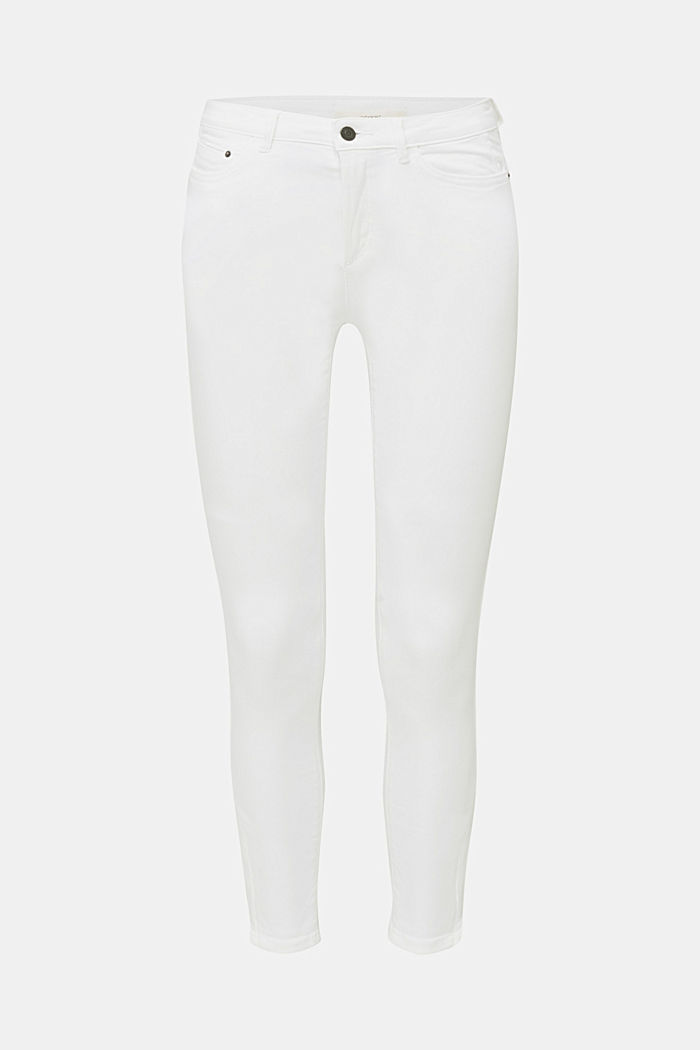 Ankle-length trousers with hem zips, WHITE, detail image number 7