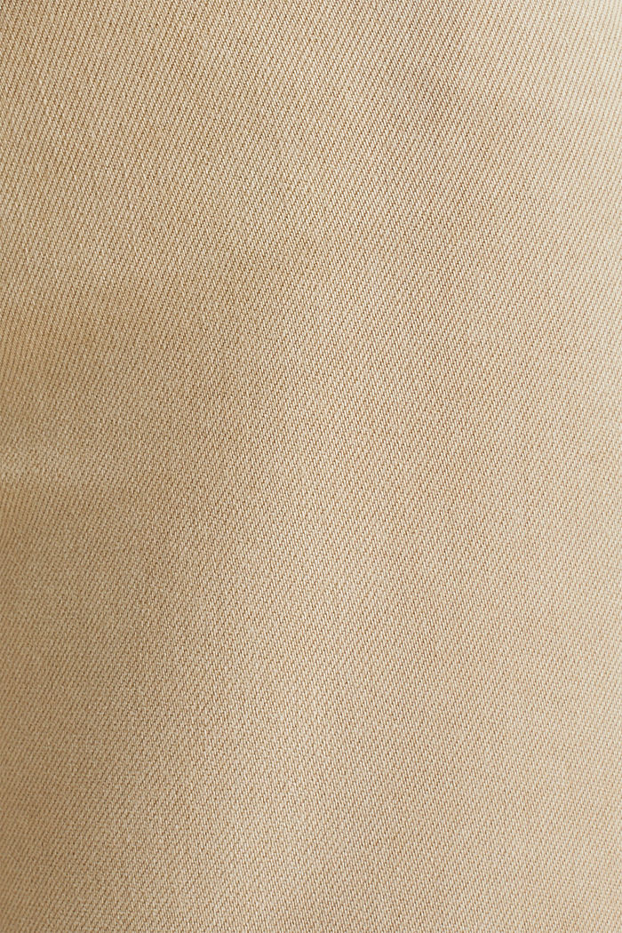 Ankle-length trousers with hem zips, BEIGE, detail image number 4