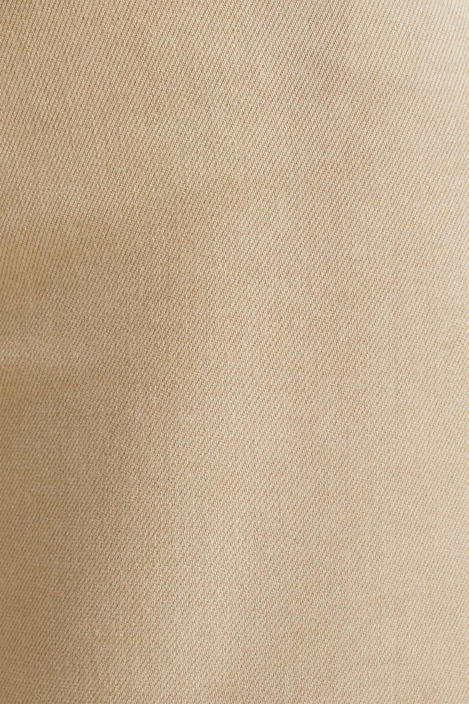 Ankle-length stretch trousers with hem zips, BEIGE, detail image number 4