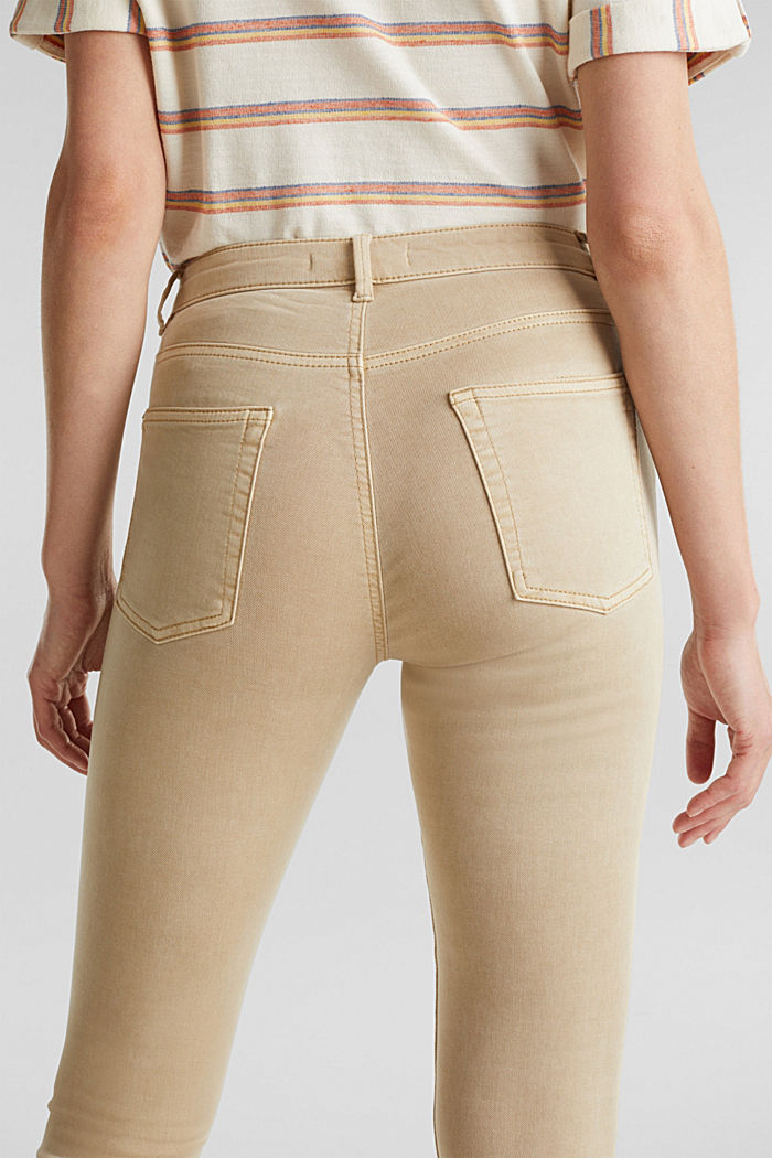 Ankle-length trousers with hem zips, BEIGE, detail image number 5