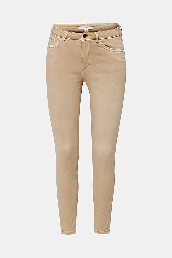 Ankle-length trousers with hem zips, BEIGE, detail image number 7
